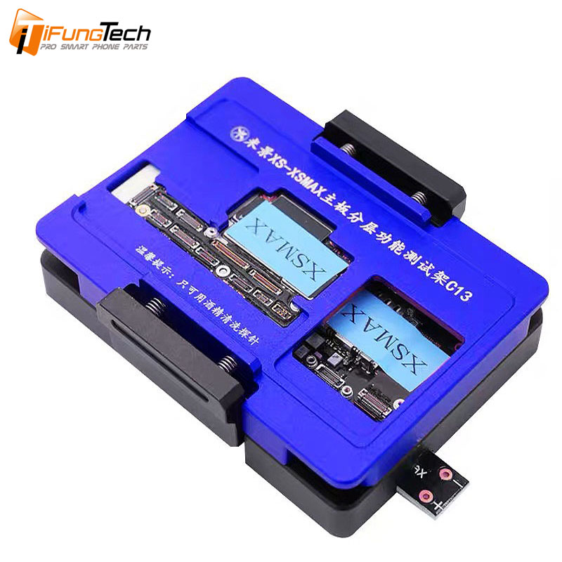 MiJing C13 For IPhone X Xs/Xs Max Board Function Testing No Meed Welding Upper Lower Main Board Tester Maintenance Fixture