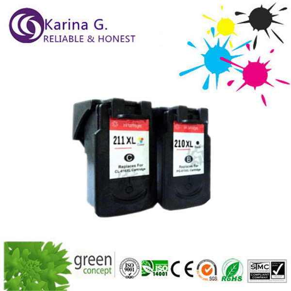 Wholeset ink cartridges for canon PG 210XL CL 211XL for Canon MP240 MP250 MP280 MP480 MP490
