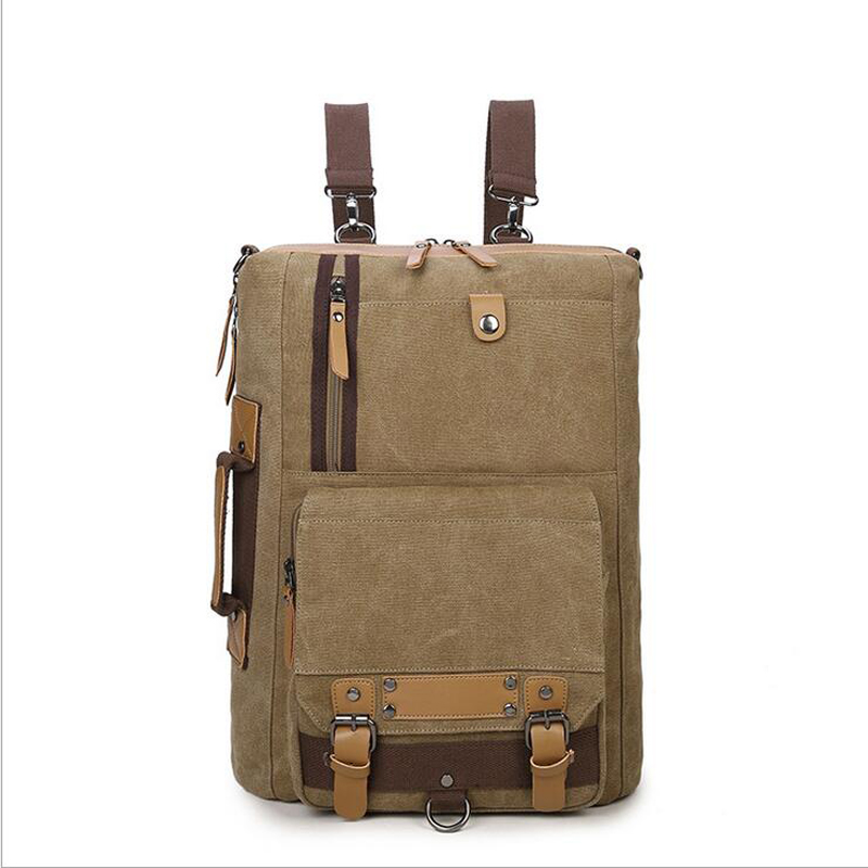 2018 new Backpack Men s Portable Multi function Mountaineering Travel Bag High end Computer Canvas Bag