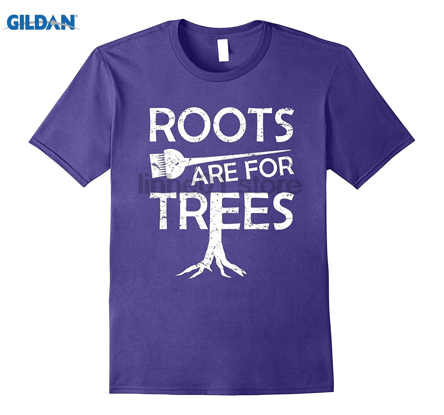GILDAN Hair Stylist Hairdresser Roots Are For Trees Ladies T-Shirt summer dress T-shirt  ...