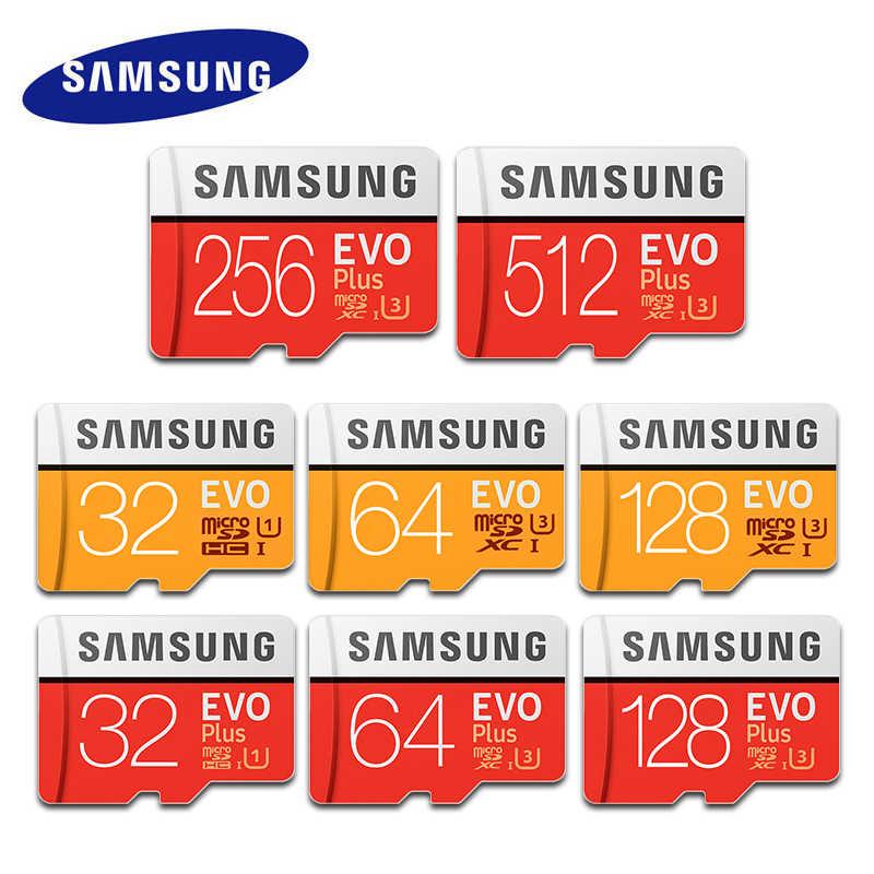 Карта Microsd SAMSUNG (256G 128 Гб 64 ГБ 32 ГБ оперативной памяти, 16 Гб встроенной памяти, 8 Гб 100 МБ/с. Class10 U3 U1 SDXC Класс EVO + Micro SD карта, карта памяти Micro SD TF флеш-карта