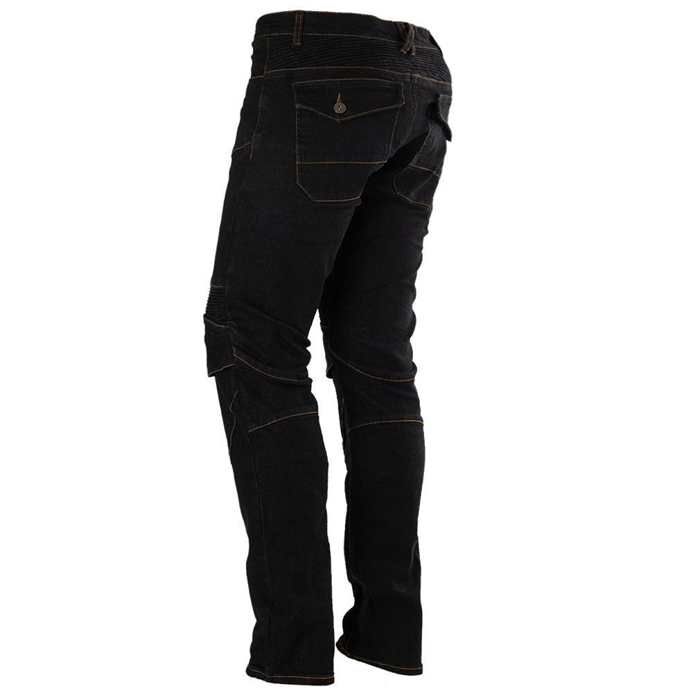 Moto équitation Pantalon Pantalon Moto Jeans pour hommes femmes Motocross course Pantalon avec 4 genouillères hanche protections 3