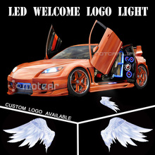 Car Door Welcome Light Logo Light Welcome Ghost Shadow Puddle Emblem Spotlight Projector Laser 3D Angel Wings GOBO Universal Fit free shipping compact 10w led sports logo light design image gobo projector custom pattern hall door wall welcome lights fixture