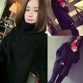 2017 new women's marten velvet mink sweater turtleneck short medium long design basic knitted thermal cashmere sweater