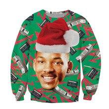 Alisister Fashion Santasaurus/cat Pizza/Carlton Sweatshirt Printed Merry Christmas Sweatshirt Women/men Harajuku 3d Sweatshirt