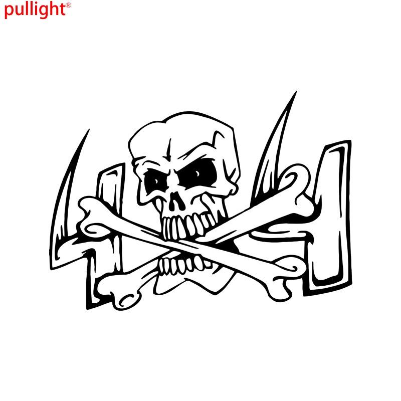 Череп глава 4x4 кости окна автомобиля грузовик стены ноутбук виниловая наклейка Стикеры
