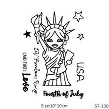 AZSG Statue of Liberty Clear Stamps/Seal For DIY Scrapbooking/Card Making/Album Decorative Silicone Stamp Crafts