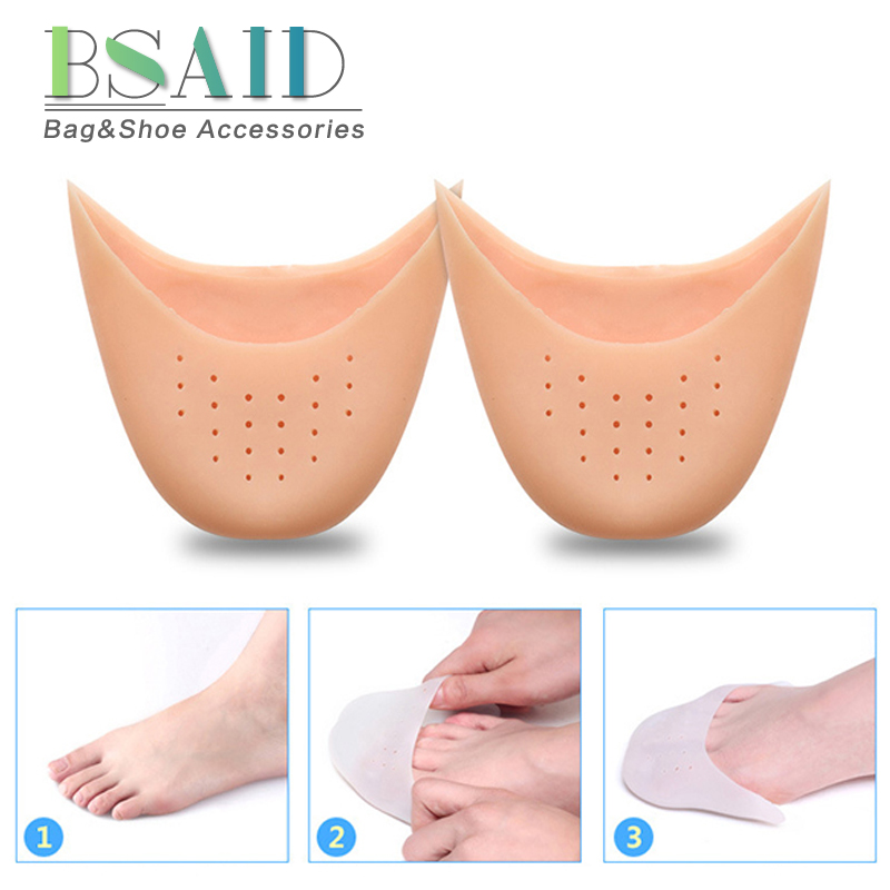 1 Pair Ballet Pointe Toe Pads For Women and Men Silicone Forefoot Insoles With Hole/Without Hole Foot Protector For Ballet Dance hot sales women ballet dance pointe shoes high quality colorful satin ribbons with bag and toe pads