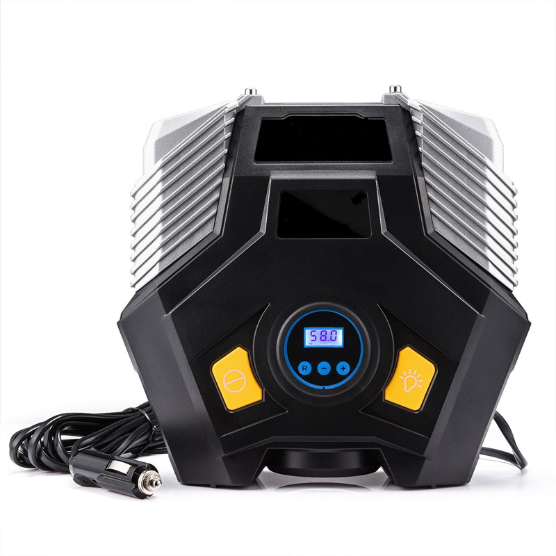 Здесь продается  12V Electric Car Air Compressor Pump Double Cylinder LED Light Digital Display Auto Car Tire Inflator  Portable Pump Household  Автомобили и Мотоциклы