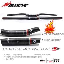ULLICYC 2019 Newest  Mountain Bike Full Carbon fibre Handlebar (Flat/Rise)31.8*580/600/620/640/660/680/700/720/740mm free ship