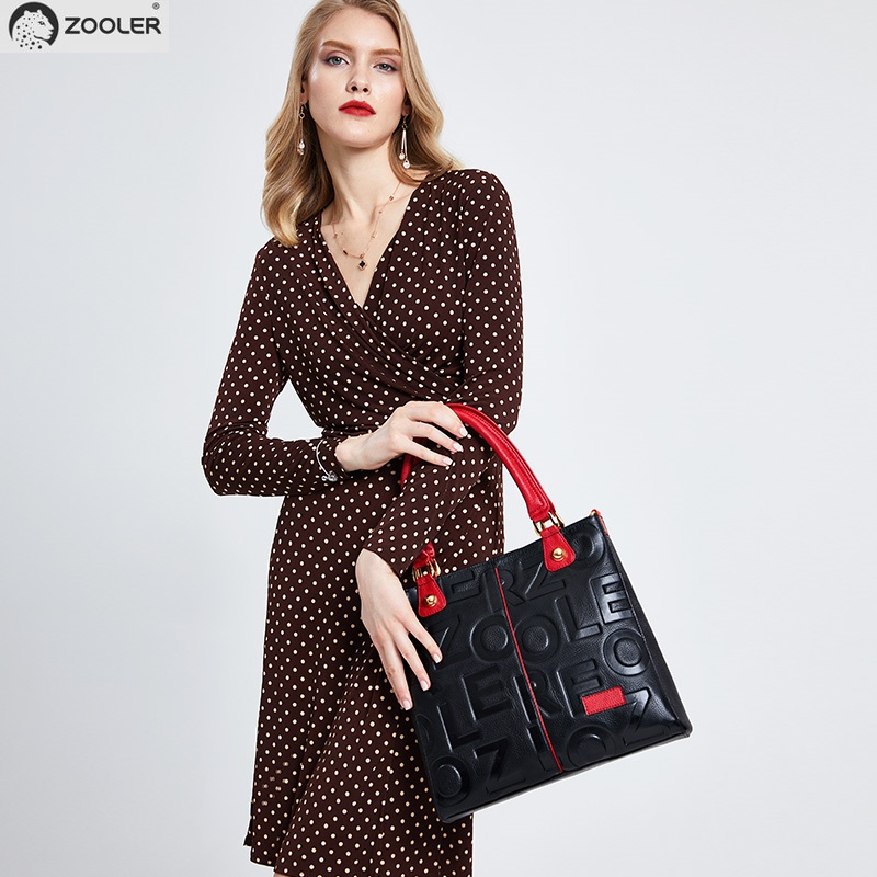HOT! MODE fourre-tout sac 2019 NOUVELLE épaule femmes sac ZOOLER designer véritable sacs en cuir femmes sacs à main Vache bolsa feminina # D136