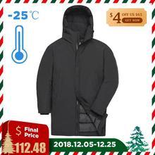 TIGER FORCE 2018 зимняя мужская куртка длинная стеганая куртка мужская однотонная парка на шнурке с капюшоном теплое пальто повседневное утолщение пальто