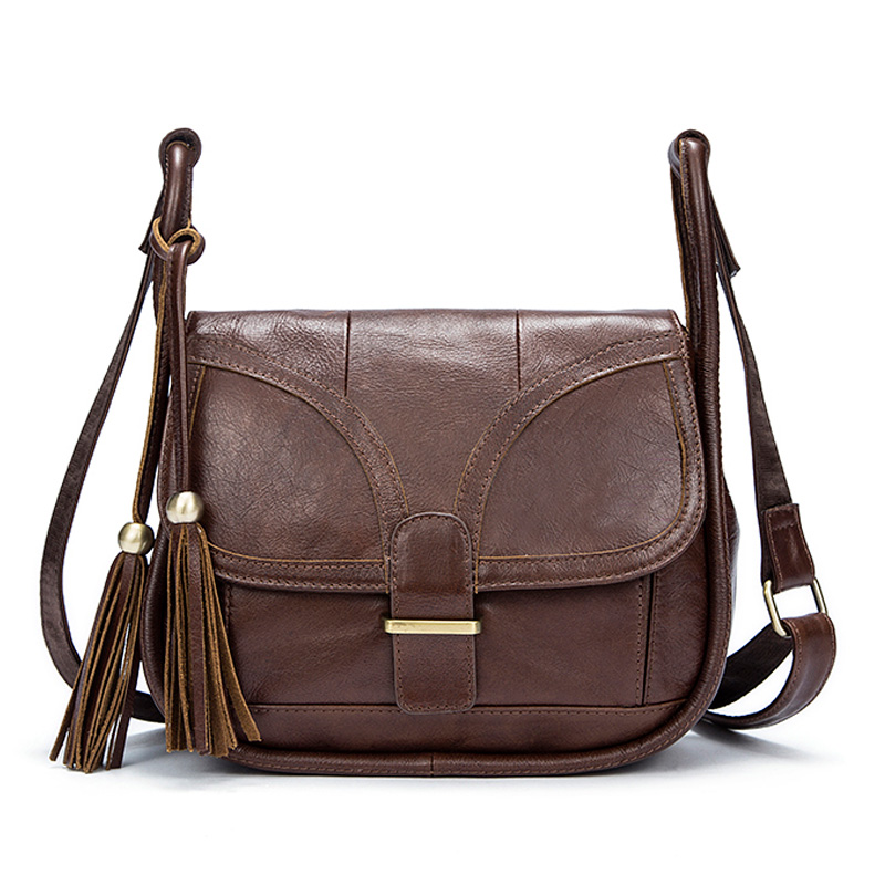 2018 New Casual Leather Ladies Shoulder Bag Retro Fashion Zipper Messenger Bag Wear The First Layer of Leather Small Square Bag famous brand top leather handbag bag 2018 new big bag shoulder messenger bag the first layer of leather hand bag