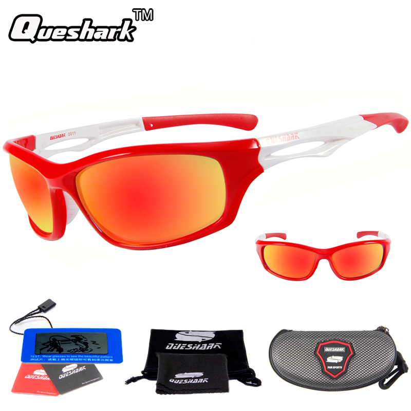 цены Queshark TR90 UV400 HD Men Women Polarized Cycling Sunglasses Bicycle Sport Glasses Bike Goggles Climbing Hiking Fishing Eyewear