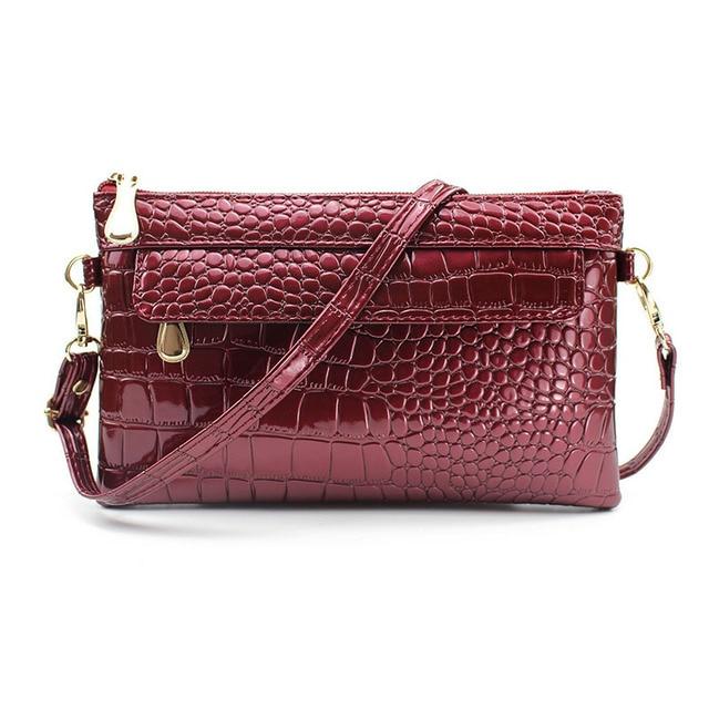 Messengerbag Purses And Handbags Brand Name Business Bag For Women Messenger Solid Alligator Pu Bags