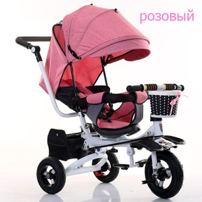 Baby trolley baby bike children tricycle rotating seat with hand push folding bike baby bike child 1-3-5 bike
