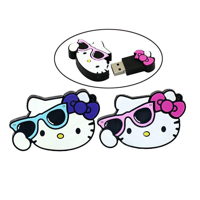 Hello Kitty Usb Flash Drive 64gb Pen Drive 32gb Pendrive 4gb 8gb 16gb Cartoon U Disk Flash Card hot sale Memory stick
