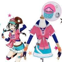 Anime Love live Yazawa Nico Cospla Awakening Idolized Baseball Jersey Uniform Pink Costume Halloween Carnival Free Shipping New