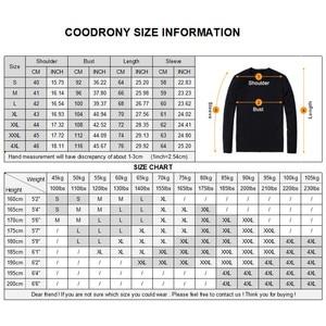 Image 5 - قميص رجالي من COODRONY وصل حديثاً لفصل الخريف بأكمام طويلة قمصان غير رسمية للعمل قمصان رجالية مخططة من القطن موضة 96019