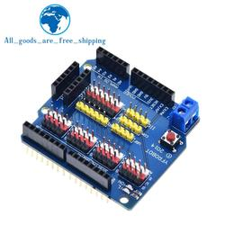 TZT V5 Sensor Shield Expansion Board Shield For Arduino UNO R3 V5.0 Electronic Module Sensor Shield V5 expansion board
