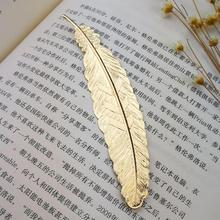 Metal Feather Bookmark Book Markers Wedding Gifts for Guests Bridesmaid Gifts Baby Souvenirs Back To School Party Favors Present