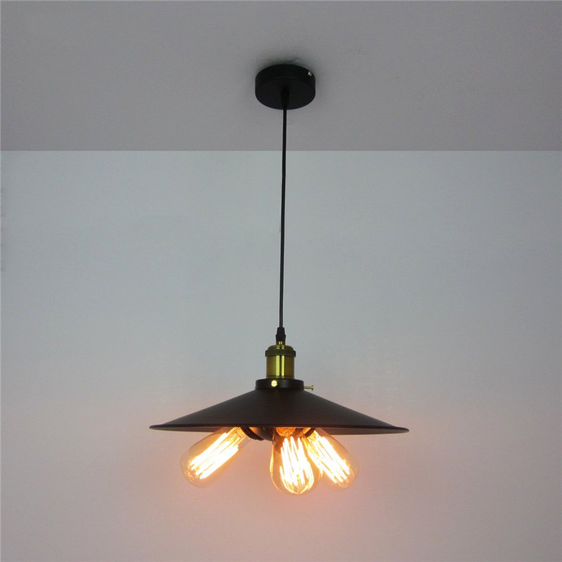 New Retro Iron 3 head Pendant Lights Loft Vintage Lamp E27 Pendant Lamp Hanging Light Fixture for Restaurant Bedroom Living Room new loft vintage iron pendant light industrial lighting glass guard design bar cafe restaurant cage pendant lamp hanging lights