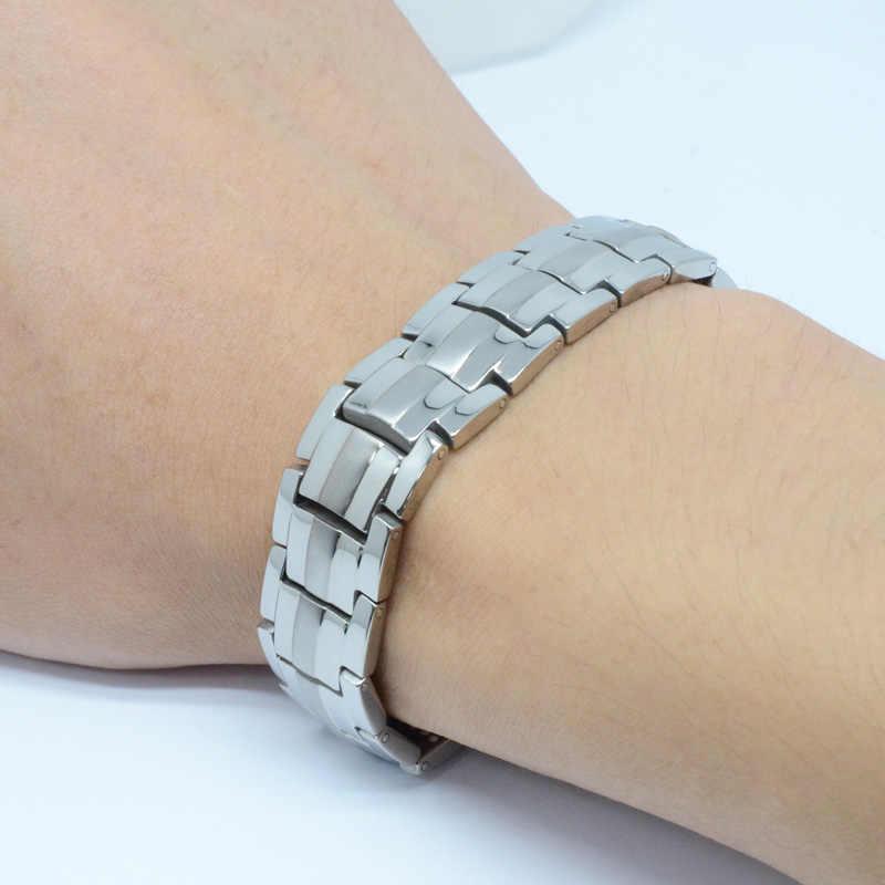 Brazalete magnético Vivari para la salud de los hombres, brazalete Chapado en plata de titanio puro, pulseras magnéticas de iones de germanio, infrarrojo lejano