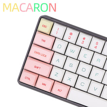 BGKC PG Macaron Ethermal Dye Sublimation fonts PBT DSA keycap For Wired USB mechanical keyboard Cherry MX switch keycaps