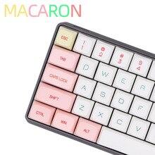 BGKC PG Macaron Ethermal barwnik sublimacyjny czcionki PBT DSA dla przewodowy USB klawiatura mechaniczna przełącznik Cherry MX nasadki klawiszy