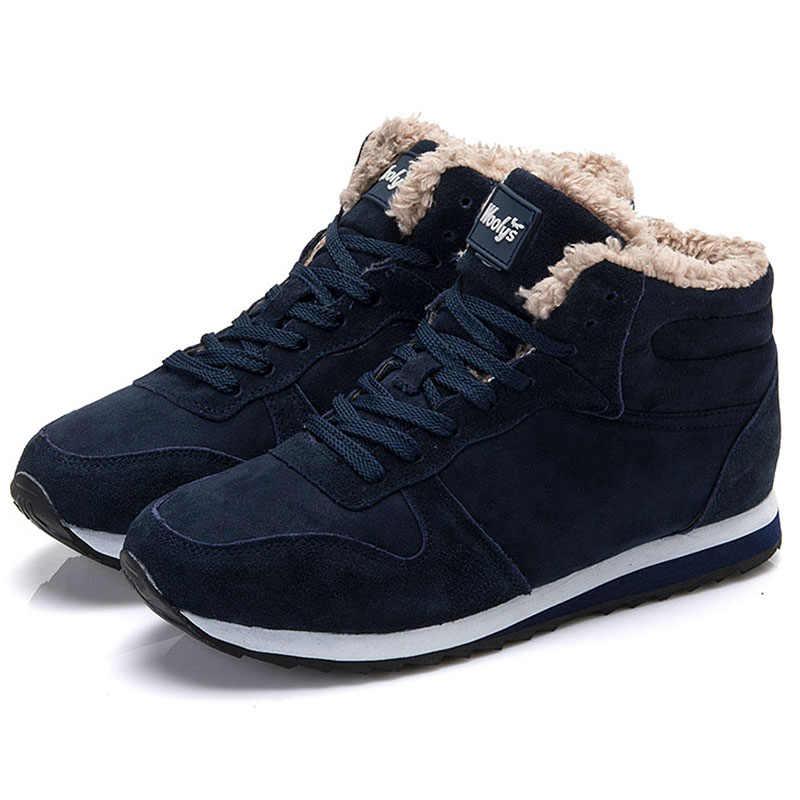 Kadın Botları Artı Boyutu Kadın Ayakkabı yarım çizmeler kadınlar için sıcak Kadın Kış Ayakkabı Kar Botları Yumuşak Yuvarlak Ayak Siyah