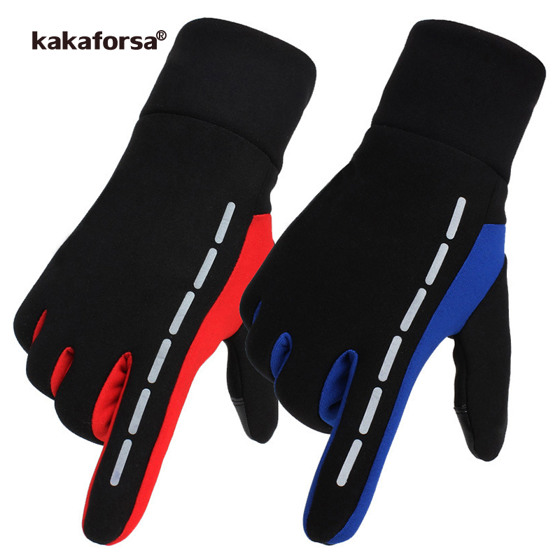 Kakaforsa New Running Gloves Touch Screen Outdoor Sports Glove Windproof Reflective Cycling Climbing Fitness Glove For Men Women