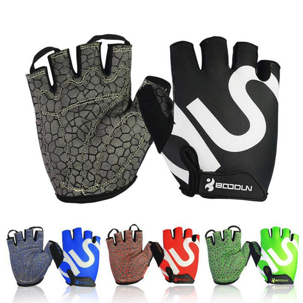 Queshark Men Women Gym Gloves Body Building Half Finger Fitness Gloves An-slip Sports Weight Lifting Gloves body building sports cyling half finger gloves for women black red
