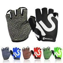 Queshark Men Women Gym Gloves Body Building Half Finger Fitness Gloves An slip Sports Weight Lifting