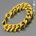 24K Gold filled 22cm Long High Quality Miami medusa chunky chain Fashion Hiphop charm bracelets & bangles bijouterie men jewelry