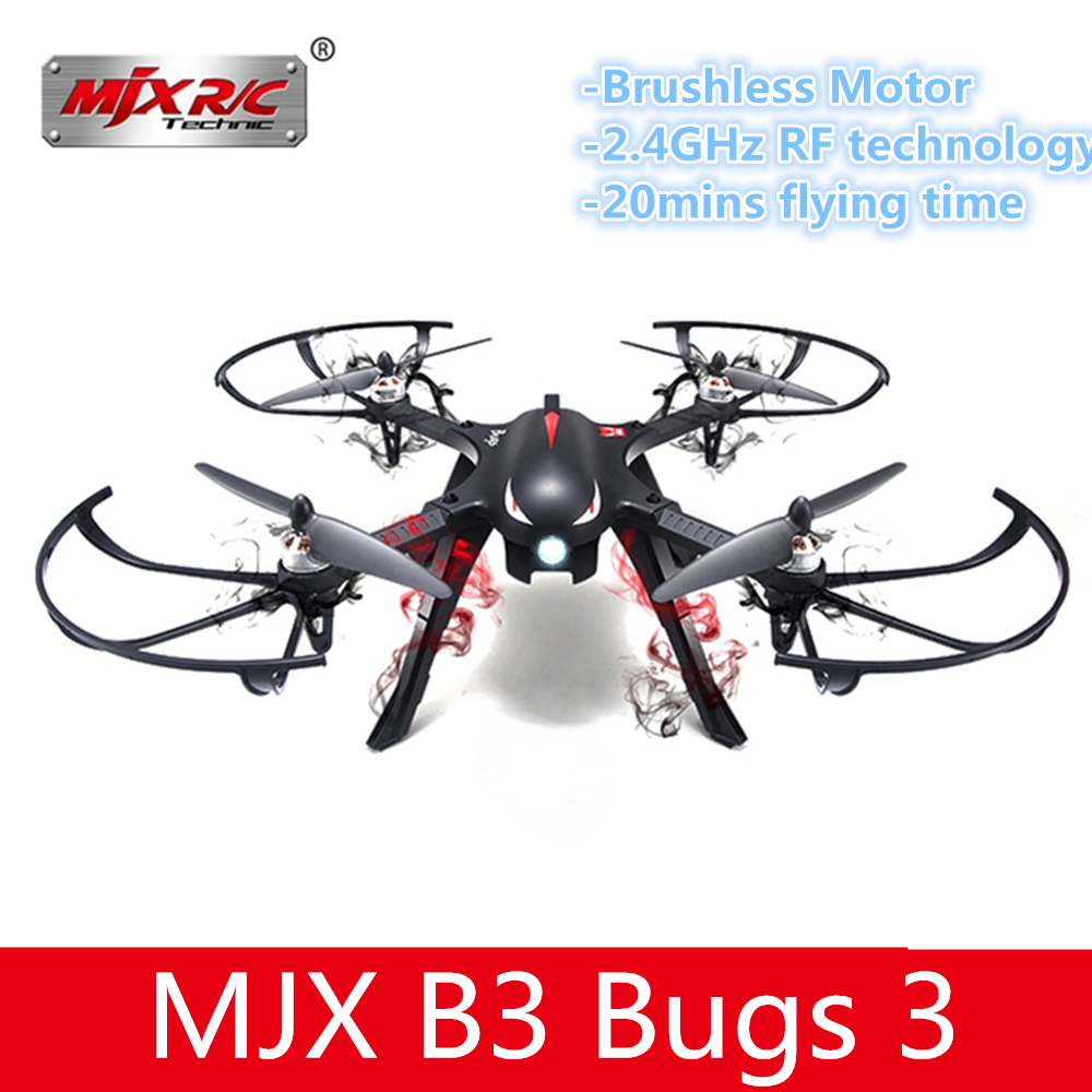 MJX B3 Bugs 3 Professional RC Drone Brushless Motor FPV With 4K WIFI Camera Quadcopter Nylon Material RC Helicopter VS SYMA X8 syma x5uw fpv rc quadcopter rc drone with wifi camera 2 4g 6 axis mobile control path flight vs syma x5uc no wifi rc helicopter