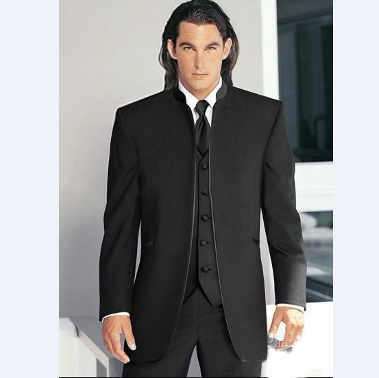 2017 Morning Fashion New Design Black Tuxedo Groom Wedding Suits Pictures For Men Jacket Waistcoat Trouser Tie Mens Suit In From Weddings