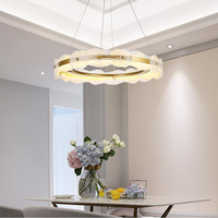 Modern white crystal chandelier LED simple dining room lamp for living room decoration chandelier