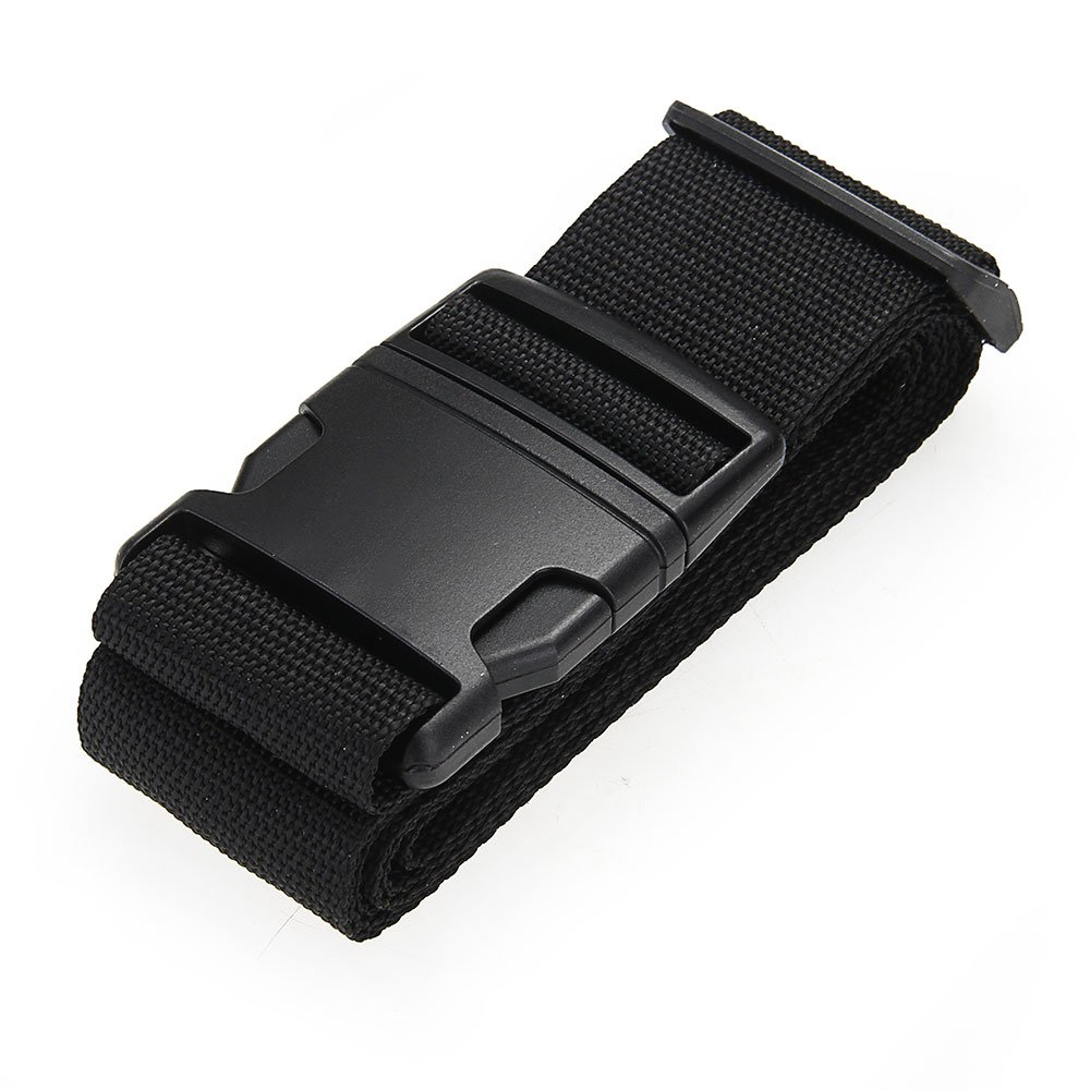 купить VSEN 2X Luggage belt strap Belt Cord Rope Black for Suitcase Travel Bag 2M недорого
