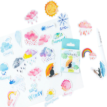 46pcs/box Cute Cartoon One Person Good Weather Boxed Stickers Diary Adhesive Boy Girl Scrapbooking Decorative DIY