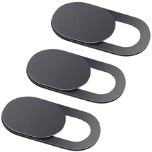3 Pack Black Aluminium Webcam Cover Camera Privacy Sticker Voor Telefoon Laptop Tablet T1