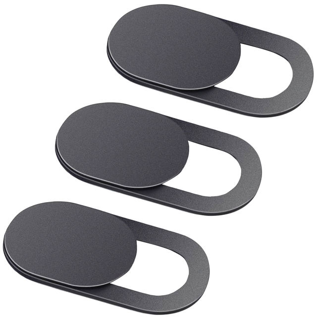 3 Pack Black Aluminum Alloy Webcam Cover Camera Privacy Sticker for Phone Laptop Tablet T1