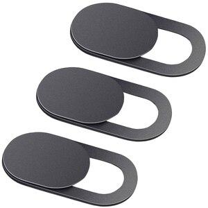 Image 1 - 3 paczka czarna aluminiowa zasłona na kamęrę kamera prywatność naklejka na telefon Laptop Tablet T1