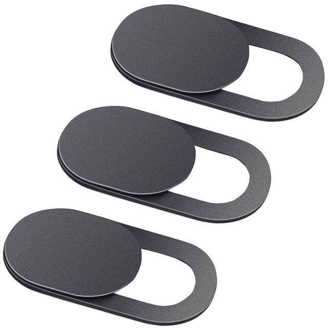 3 paczka czarna aluminiowa zasłona na kamęrę kamera prywatność naklejka na telefon Laptop Tablet T1