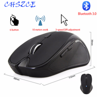 Wireless mouse 1600DPI 6 Buttons Adjustable Receiver Optical Computer Mouse BT 3.0 Ergonomic Mice For mi pad 4|Mice| |  -