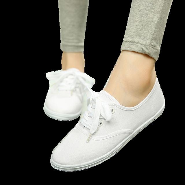 40bf2b63df9eb New 2018 Women Canvas Shoes Breathable Fashion Brand Women Flat Shoes Woman  Sneakers White shoes Plus
