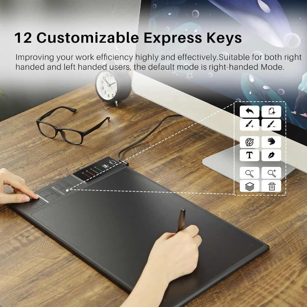 Huion GIANO WH1409 14 pouces 8192 niveaux sans fil dessin tablette numérique graphique tablettes stylo tablette pour Windows et MAC OS