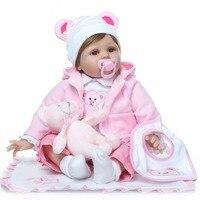 NPK reborn baby doll для ручной работы Силиконовая очаровательны младенец получивший новую жизнь Bonecas 55 см bebe девушка kid lol menina de силиконовые куклы сю...