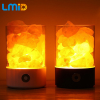 USB Crystal Light Natural Himalayan Salt lamp led Lamp Creator Indoor Colorful Light Table Lamp Bedroom Lava Lamp