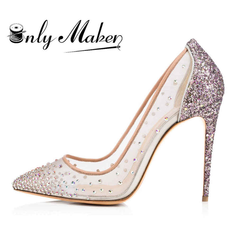 Wedding Gold Prom Shoes compare prices on silver prom shoes online shoppingbuy low price onlymaker wedding dressing pumps crystal rhinestone decoration handmade super party spike plus size 13