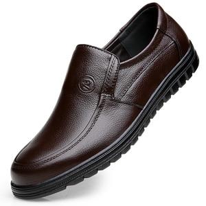 Image 5 - VESONAL 2019 קיץ נוח להחליק על עור אמיתיות גברים נעלי מוקסינים משרד עסקים שמלת פורמליות זכר נעליים